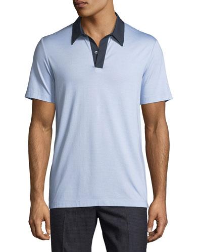 Air Pique Contrast-Collar Polo Shirt