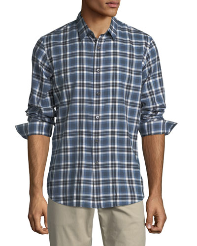 Plaid Flannel Cotton Sport Shirt