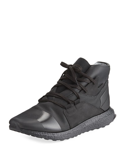 Men's Kozoko High-Top Sneaker, Black/White