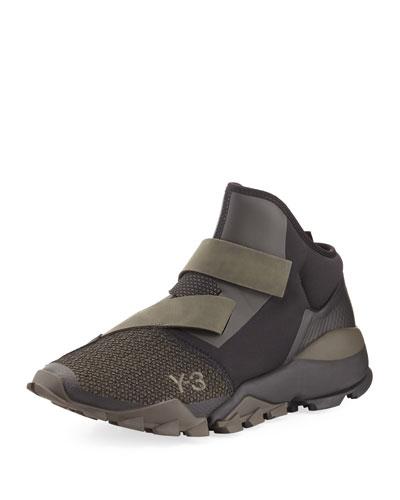 Ryo Mixed-Media Fast-Strap Sneaker