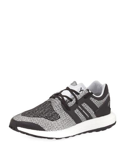 Men's Pure Boost Mesh Sneaker, White/Black