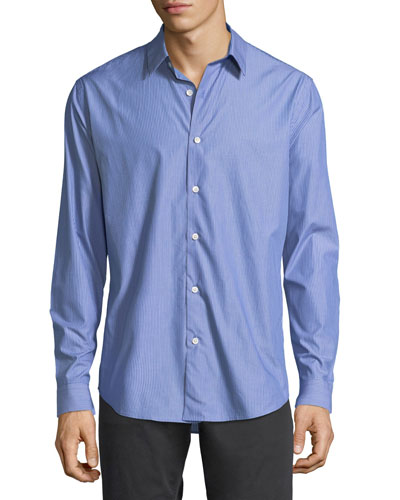 Stacked Stripe Cotton Shirt
