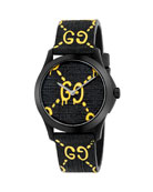 38mm G-Timeless Watch with Rubber Strap