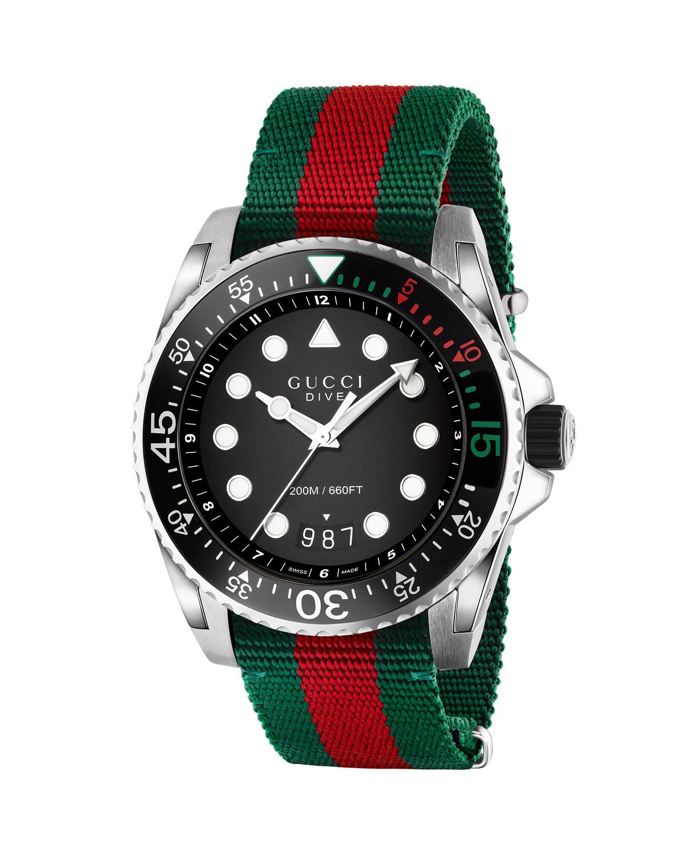 Dive Watch w/ Nylon Web Strap