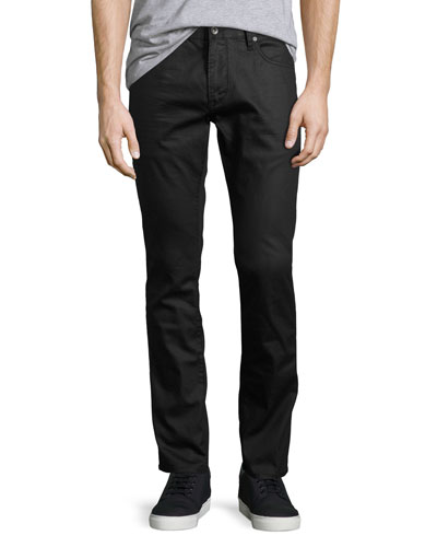 Wight Coated Skinny Jeans, Black
