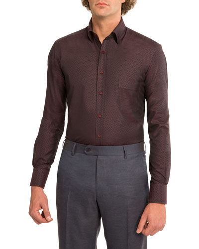 Tonal Jacquard Dress Shirt