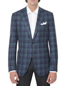 Plaid Two-Button Sport Jacket