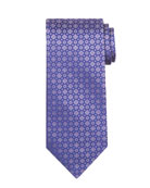 Tonal Circle & Square Silk Tie