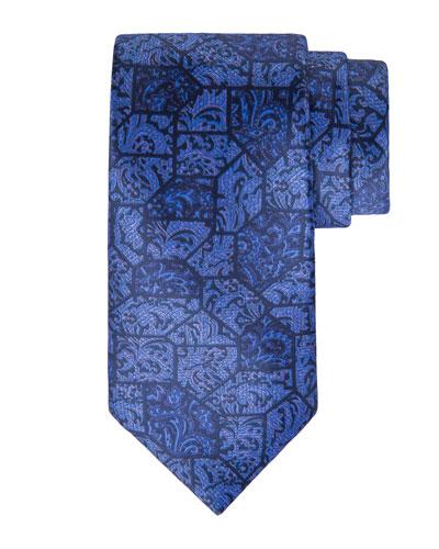 Paisley Tile Printed Silk Tie