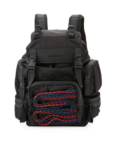 Akira Men's Backpack w/ Cording Detail