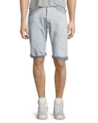 ARC 3D Bleached Wash Shorts with Distressing