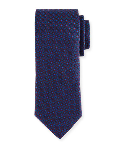 Two-Tone Circles Silk Tie