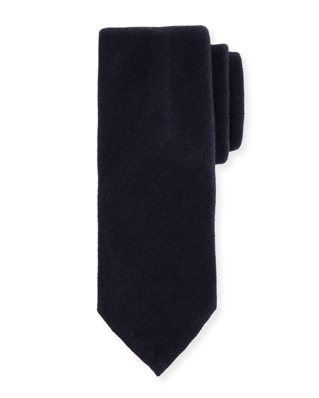Silk-Cashmere Tie, Blue