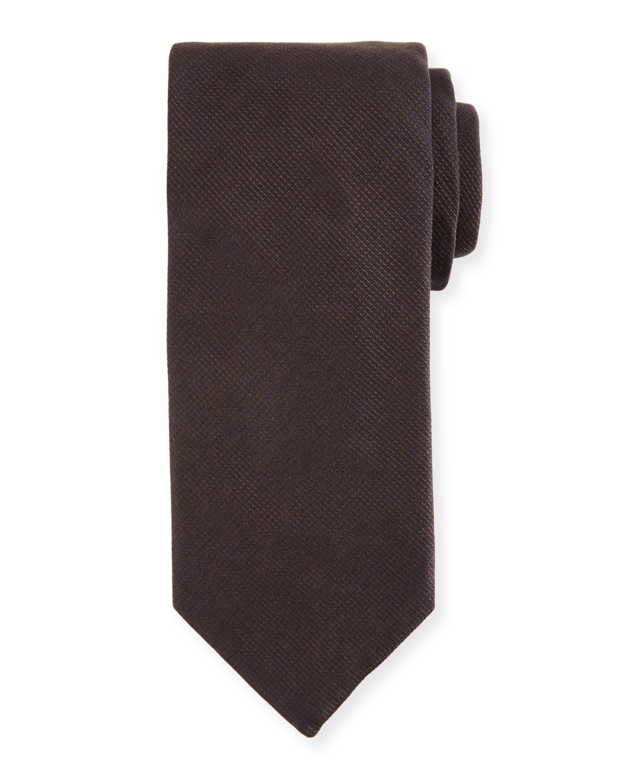 Silk-Cashmere Tie, Brown