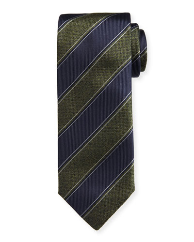 Herringbone Striped Silk Tie