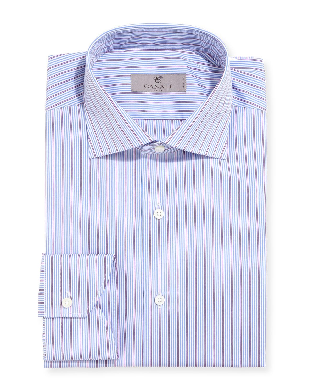 Modern-Fit Multi-Stripe Dress Shirt
