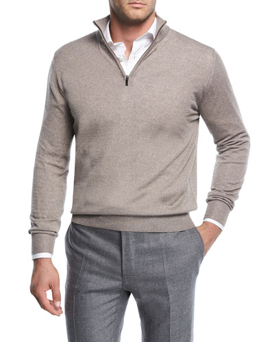 Wool Half-Zip Sweater