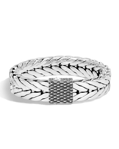 Men's Legends Naga Dragon Sterling Silver Chain Bracelet