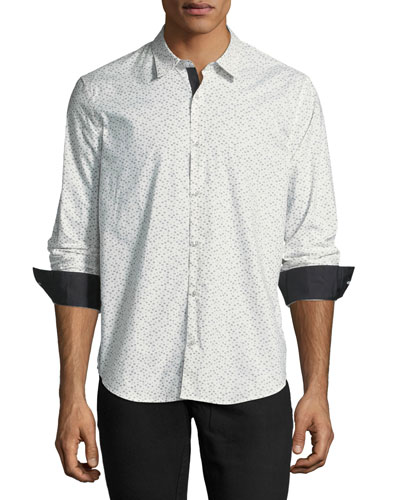 Slim-Fit Button-Front Sport Shirt