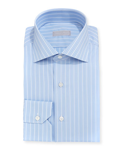 Thick Striped Cotton Dress Shirt