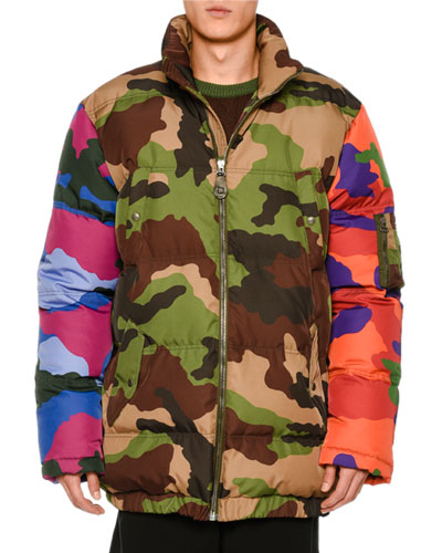 Multi-Camouflage Puffer Jacket