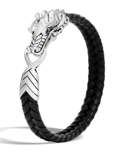 Men's Legends Naga Dragon Leather Dragon Bracelet