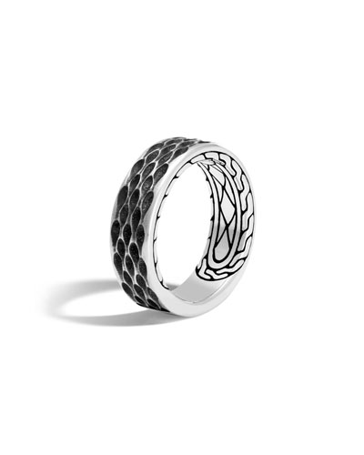 Men's Legends Naga Dragon Sterling Silver Band Ring