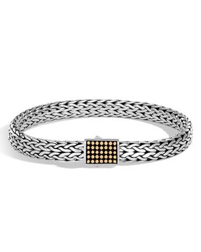 Men's Classic Chain Jawan Sterling Silver & 18K Gold Bracelet