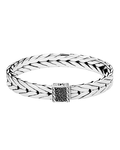 Men's Modern Chain Bracelet with Black Sapphire