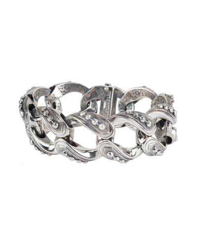Men's Hephaestus Sterling Silver Link Bracelet