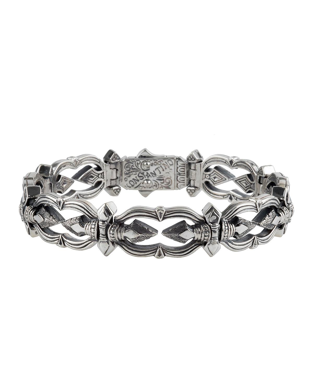 Men's Sterling Silver Link Bracelet
