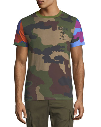 Multi-Camouflage Cotton T-Shirt