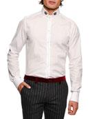 Crown-Collar Cotton Shirt