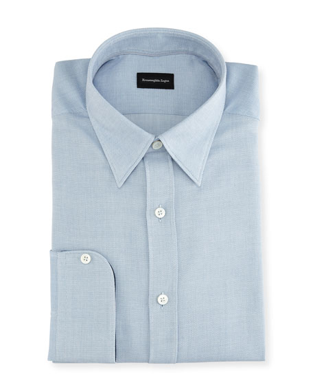 Ermenegildo Zegna Woven Cotton Regular-Fit Dress Shirt