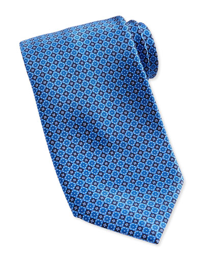 Neat Square Medallion Silk Tie