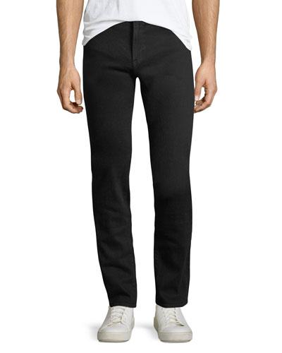 L'Homme Slim-Straight Jeans, Noir