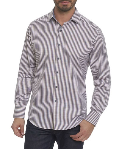 Marion Striped Cotton Sport Shirt