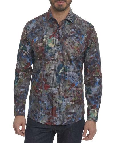 Big Nova Floral Plaid Sport Shirt