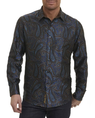Lake Placid Paisley Silk Shirt