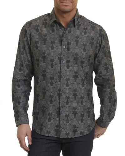 Watkins Floral Plaid Sport Shirt