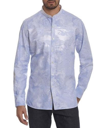 Limited Edition Striped Jacquard Sport Shirt
