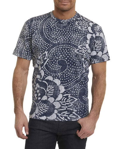 Batik Cotton Crewneck T-Shirt