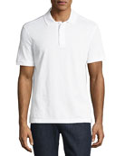 Men's Piqué Polo Shirt with Floating Gancio Embroidery