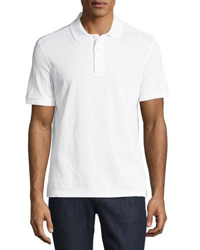 Men's Piqué Polo Shirt with Floating Gancio Embroidery