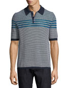 Men's Horizontal-Striped Polo Shirt