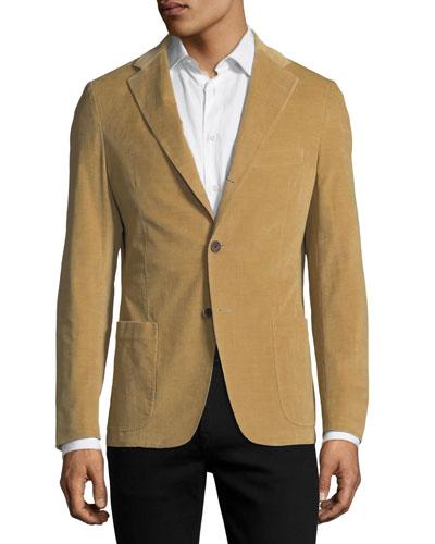 Corduroy Three-Button Sport Jacket