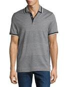 Michael Kors Engineered Birdseye Stripe Polo Shirt
