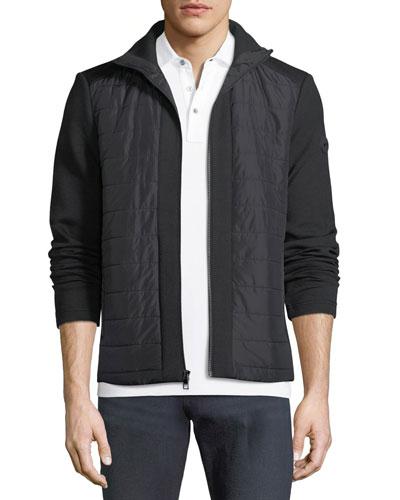 Quilted Zip Jacket with Neoprene Combo