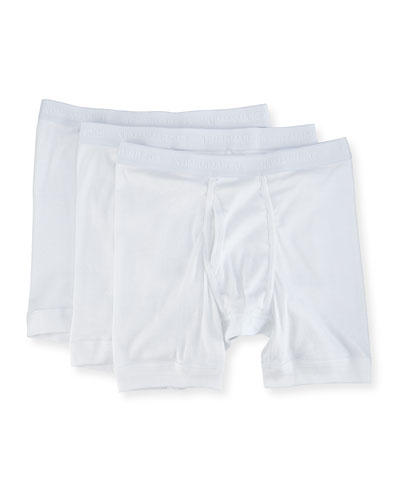 3-Pack Mercerized Cotton Boxer Briefs
