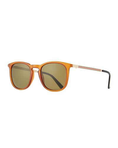 Men's Square Optyl Web Sunglasses, Yellow
